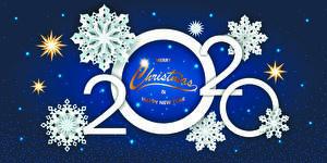 Фотография Рождество Слова Английская 2020 Снежинка