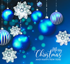 Фото Рождество Слова Английская Шар Снежинка