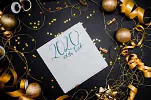 Фотографии Новый год Текст Шаблон поздравительной открытки Шар Звездочки Английский