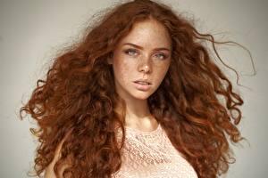 Картинка Волос Рыжие Смотрит Лица Миленькие Erica, Alexander Vinogradov девушка