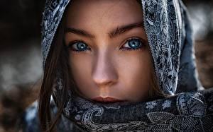 Картинка Глаза Лица Смотрит Носа Капюшоне arabian, tomas barkauskas, tomas bark девушка