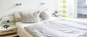 Обои Интерьер Спальне Кровати Подушка