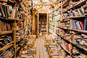 Фото Много Книги Библиотеке