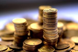 Фото Деньги Монеты Вблизи Много Боке grosz, groschen