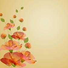 Картинки Рисованные Мак Шаблон поздравительной открытки Цветы