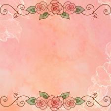 Картинки Рисованные Шаблон поздравительной открытки цветок