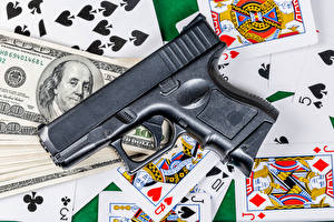 Картинки Пистолеты Игральные карты Доллары Деньги
