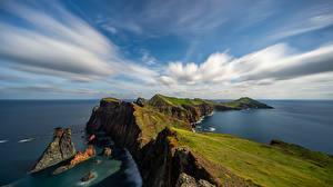 Обои Море Остров Португалия Облачно Ponta de São Lourenço, Madeira Природа