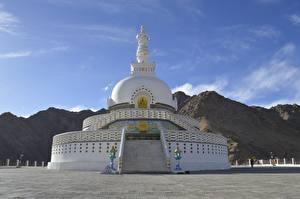 Фото Храм Индия Shanti Stupa, Leh district, Ladakh