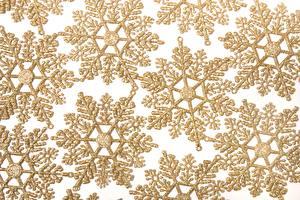 Обои для рабочего стола Текстура Снежинка Золотые