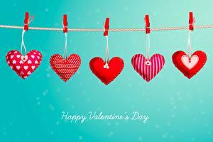 Фотографии День всех влюблённых Сердечко Прищепки Слова Английская