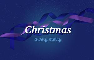 Фото Векторная графика Рождество Ленточка Слова Английская