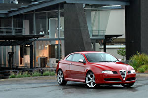 Обои Альфа ромео Красных Металлик 2018 GT Q2 Bertone машина