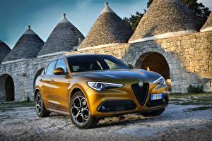 Обои Альфа ромео Металлик 2019-20 Stelvio Veloce авто