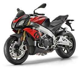 Обои для рабочего стола Aprilia Белым фоном 2019 Tuono V4 1100 RR мотоцикл