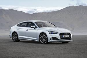 Картинки Audi Серебристый 2019-20 A5 Sportback 40 g-tron Worldwide