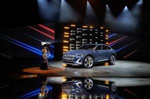 Обои Ауди Металлик 2020 e-tron 55 quattro Sportback S line Worldwide авто