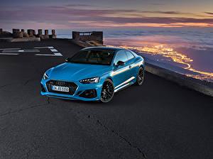 Фото Ауди Купе Голубая Металлик 2019-20 RS 5 Coupé Worldwide авто
