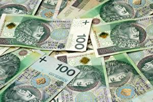 Фотография Банкноты Деньги 100 STO Złoty Złotych
