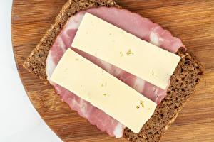 Картинки Бутерброды Хлеб Ветчина Сыры Продукты питания