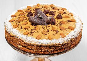 Обои Торты Орехи Шоколад Миндаль Дизайна