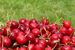 Картинки Черешня Много Красный Продукты питания