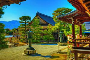 Обои для рабочего стола Китай Киото Храм HDR Daikaku-ji город