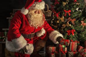 Фото Рождество Санта-Клаус Подарок