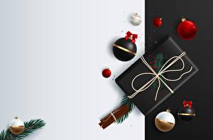 Обои Рождество Векторная графика Корица Подарков Ветка Шар Шаблон поздравительной открытки