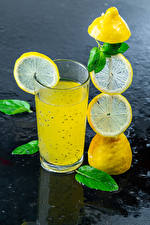 Обои Напиток Лимоны Лимонад Стакана Еда