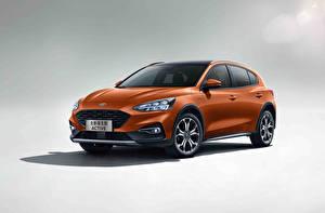 Обои Ford Металлик Кроссовер Оранжевый Focus, Active, China 2019 авто