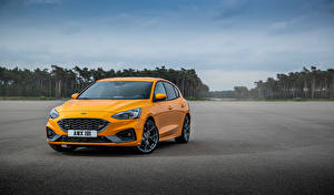 Фотографии Ford Оранжевый Металлик Focus ST Worldwide машина