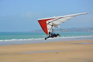 Обои Летит Hang-gliding