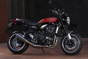 Картинка Кавасаки Черная Сбоку 2017-19 Z900 Worldwide Мотоциклы