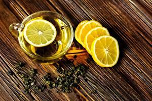 Фотография Лимоны Чай Чашка Еда