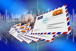 Обои Много Векторная графика Письма post, Postal envelope