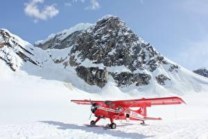 Фотография Гора Самолеты Снега Красная Авиация