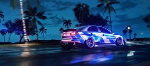 Фото Need for Speed Мицубиси Сбоку Едущий Heat, Lancer 2019 компьютерная игра Автомобили