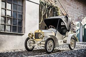 Картинки Винтаж Белая 1908 Laurin and Klement BSC авто