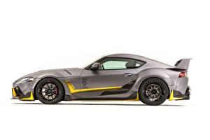 Картинка Тойота Сбоку Белом фоне Серая Concept 3000GT 2019 GR Supra A90 SEMA 2019 авто