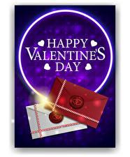 Фотографии Векторная графика День всех влюблённых Английская Слова Сердечко Письма