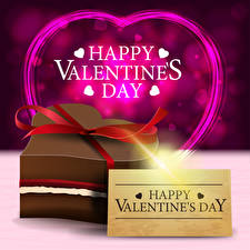 Фотографии Векторная графика День всех влюблённых Английский Слова Подарки Сердце Бантик