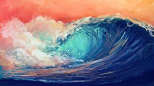 Картинка Волны Море Рисованные