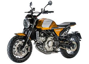 Картинка Белый фон Сбоку 2017-19 Moto Morini Scramble мотоцикл