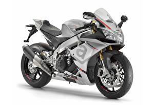 Фотографии Априлла Белый фон 2015-16 RSV4 RR мотоцикл