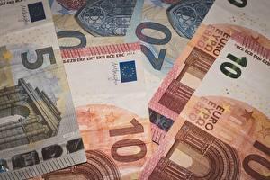 Фотографии Банкноты Деньги Евро Вблизи 10 Euros