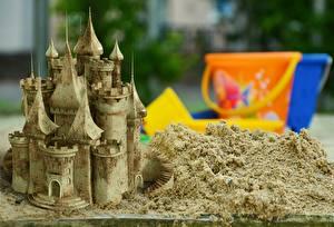 Картинка Замок Вблизи Песка 3D Графика
