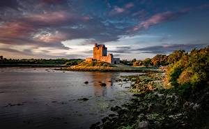 Фотография Замки Ирландия Заливы Dunguaire Castle, Galway Bay Природа