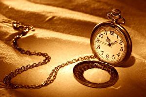 Картинка Часы Карманные часы Цепь Песок