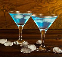 Фото Коктейль Алкогольные напитки Доски Бокал Льда Еда